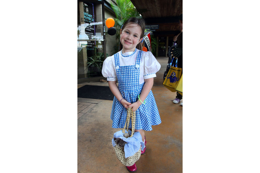 "Madilyn Hagney, 5, went as Dorothy from ""Wizard of Oz""."