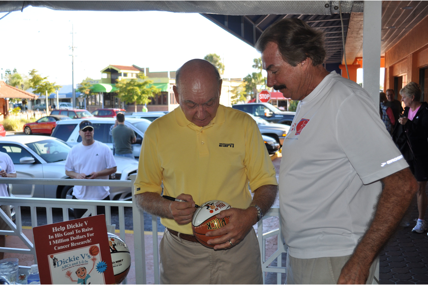 Dick Vitale and John Branigan