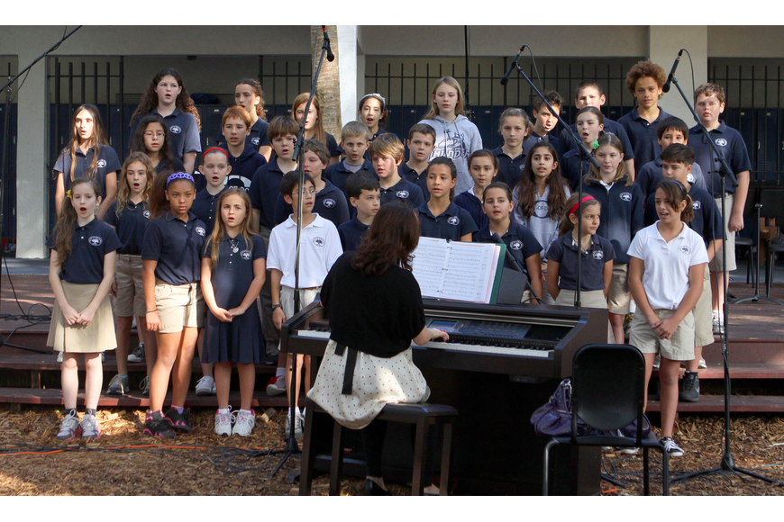 The choir performed during Grandfriends Day at Out-of-Door Academy on Friday.