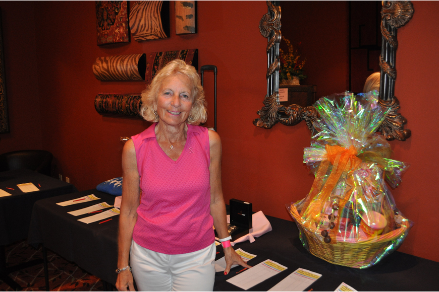 Kathy Lyons hosted the silent auction.