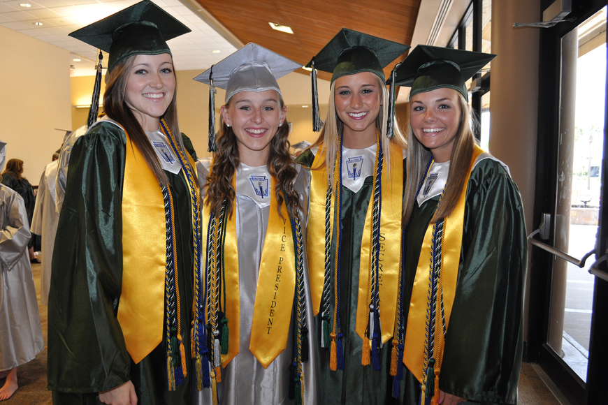 Fiona Morley, Taylor Halligan, Ashley Rademaker and Madeline Winship all were leaders of the senior class.
