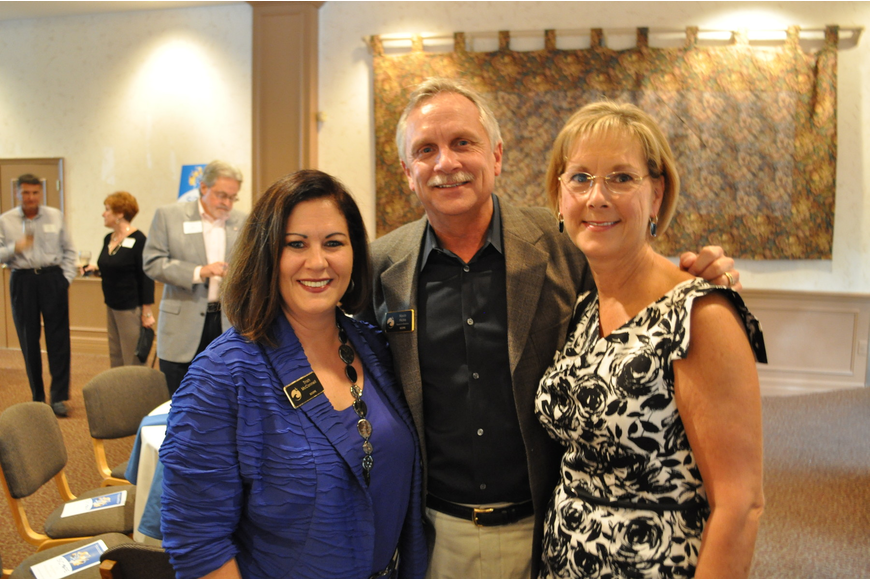 Trish McConnell with Kevin and Linda Hicks