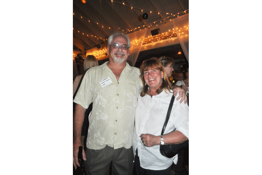 Jimmy Seaton of Longboat Limousine, with Patricia Colby, a Longboat Key Chamber member and community volunteer