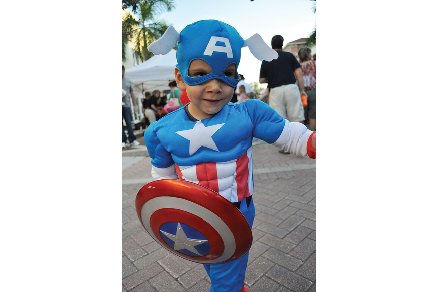 Andrew Fertig, 3, came to the Lakewood Ranch Boo Fest as Captain America. Published Nov. 1, 2012.