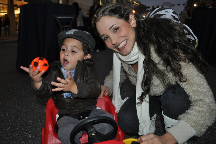 Miguel Angel Arango, 1, enjoyed time with his mom, Clara Arango.