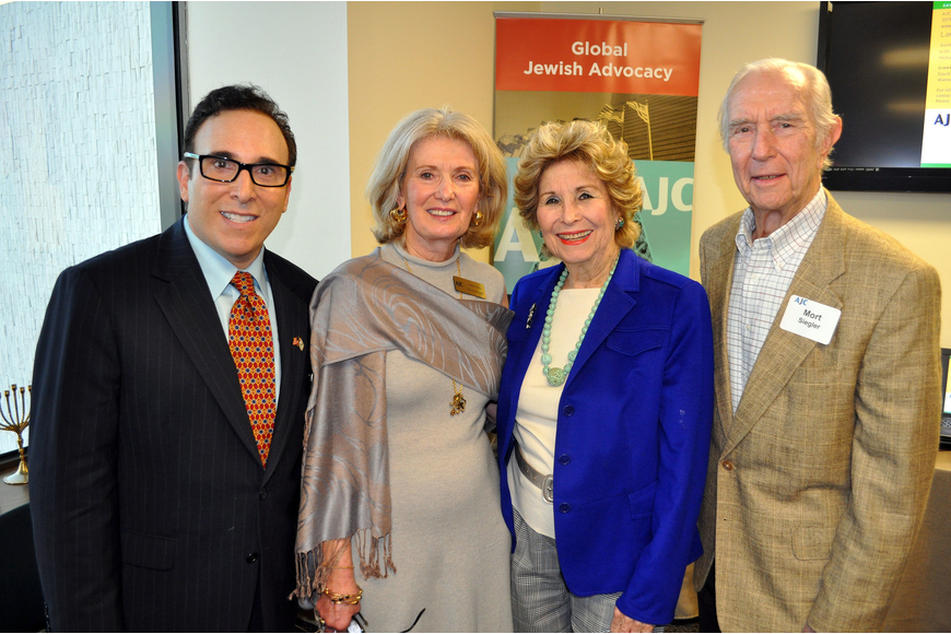 Executive Director Brian Lipton with newly appointed president Anne Virag and Carol and Mort Siegler.
