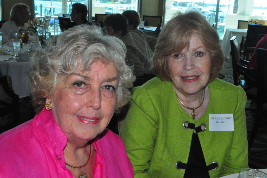 Mary Ann Maclellan with Marge Corry