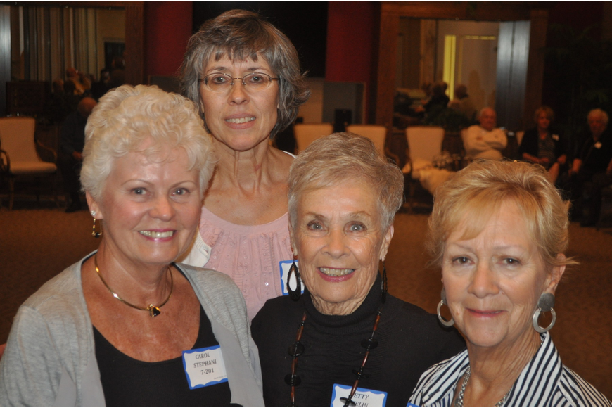 Carol Stephan, Nancy Koran, Betty Keelin, Pat Brouder
