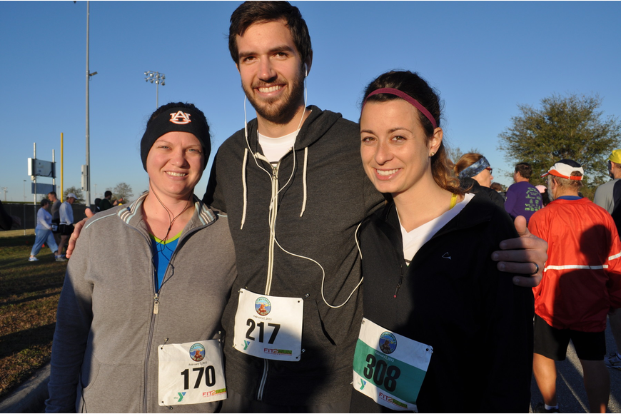 Mary Kay Stratton ran with Josh and Brianna Caputo.