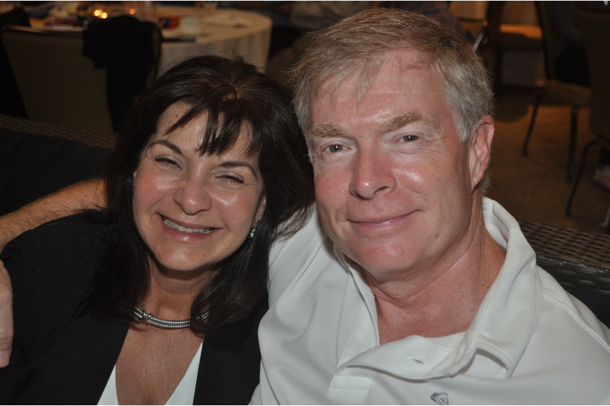 Tom and Debbie Thorsteinson at the Longboat Key Club Super Bowl party
