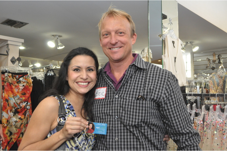 Jenny Wilkins of Age Vital with association president Eric Seace of Dreamweaver, Planet and Massage Envy