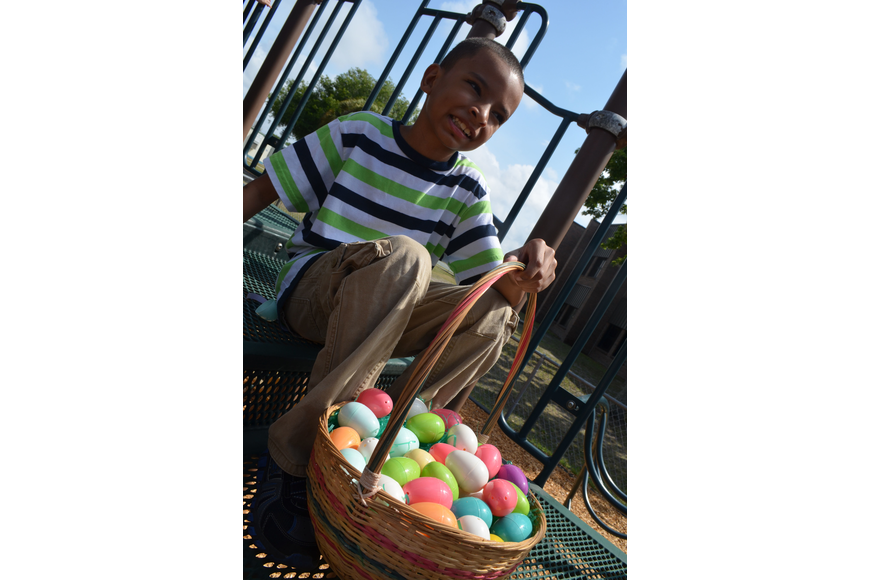 Devonte Rock collected a lot of Easter eggs.