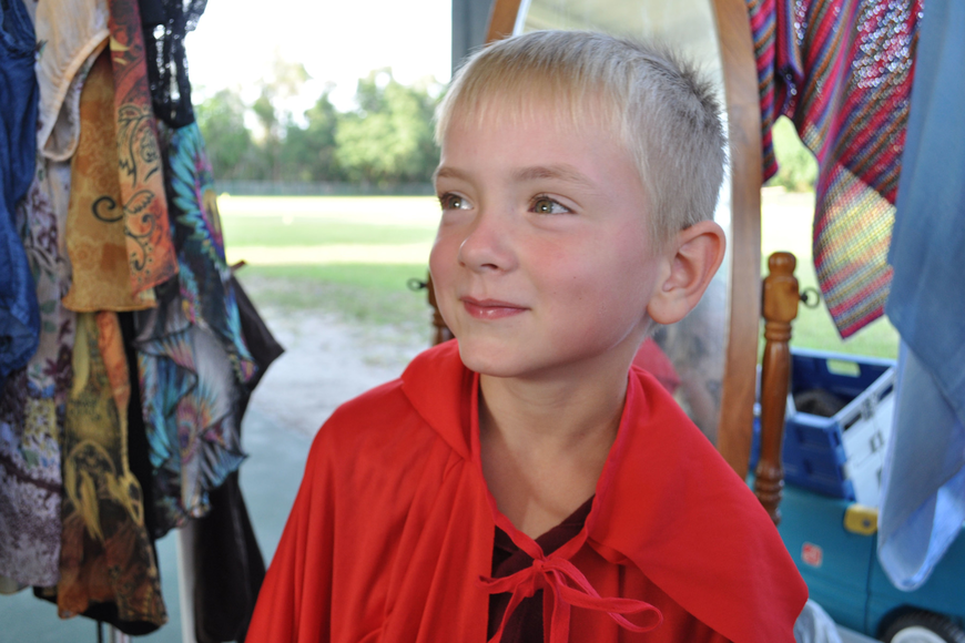 Jonah Adams, 5, wanted to see how he looked as a bullfighter.