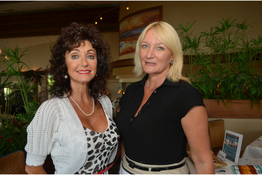 Executive Assistant of the Longboat Chamber of Commerce Victoria Jacobson and Executive Vice President Dawn Mims