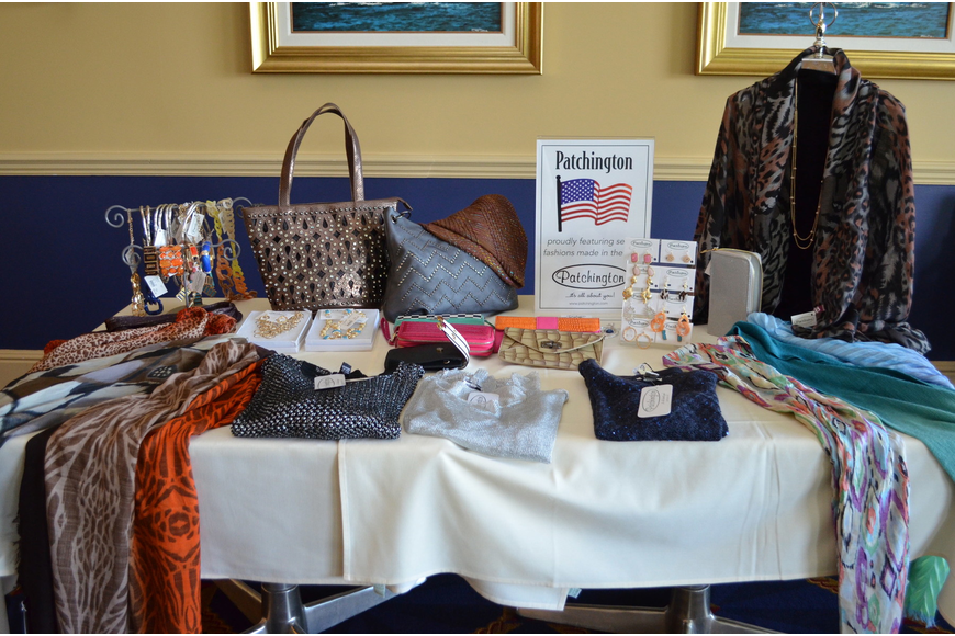 Patchington set up a table top boutique in the dining room at Bird Key Yacht Club and offered members a 10% discount on items purchased.
