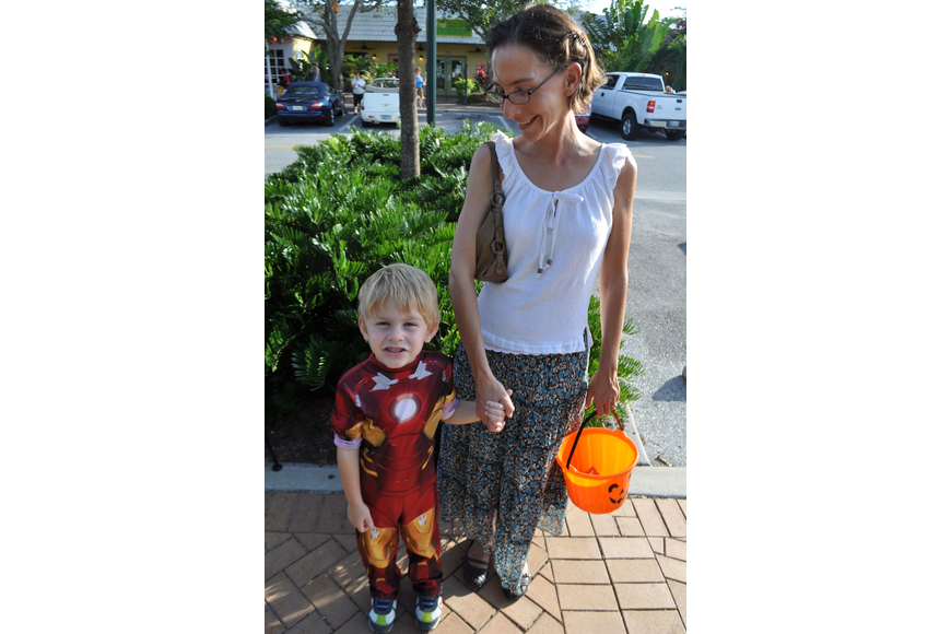 Hendrix Nunnery, 5, and his mother, Janine, love Halloween.