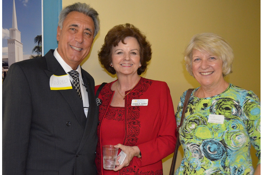 Andrew Vac, RE/Max Alliance Group, Donna Dunio, Executive Director at Aging in Paradise, and Liz Yerkes, Longboat Massage