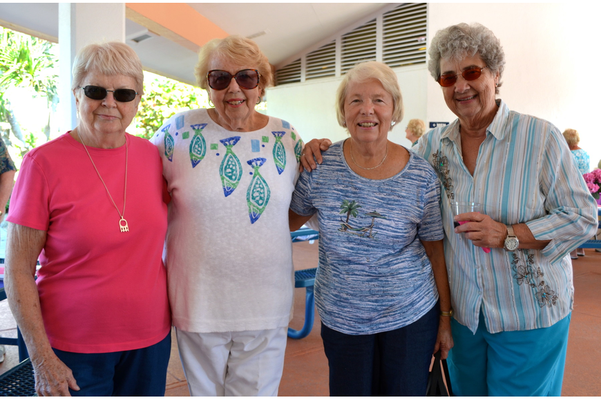 Carolyn Judd, Jan Webb, Elise Rogers and Marcy Gobell