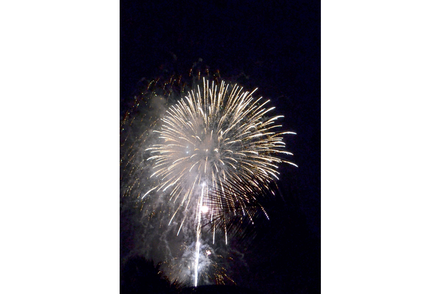 Fireworks light up the sky over Siesta Key beach for the 24th annual Fourth of July Fireworks Display.
