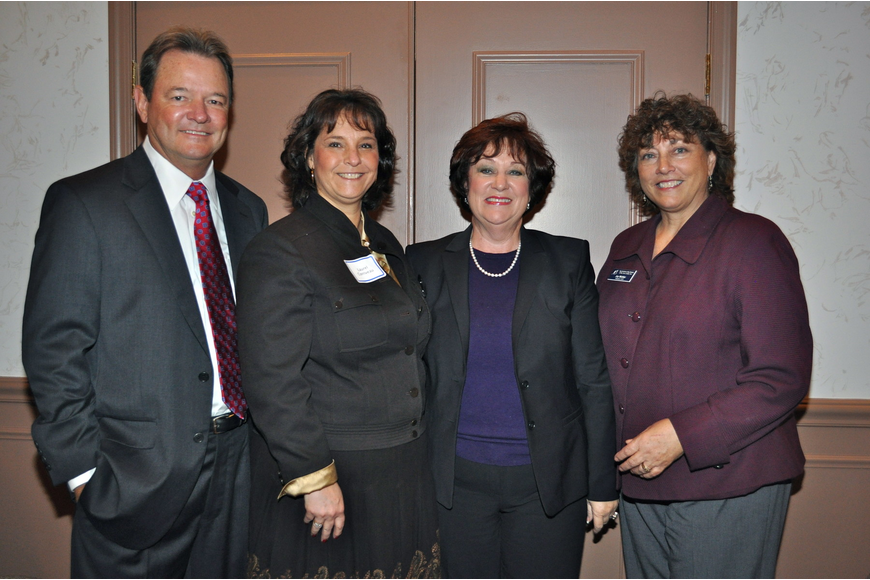 Dr. Jerry Thompson, Laurel Corriveau, Mary LeMay-Rott and Joy Mahler