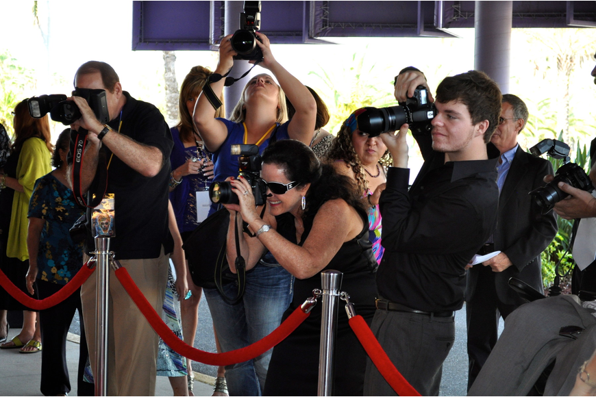 Paparazzi were on the prowl at Hollywood Nights to photograph aspiring filmmakers.