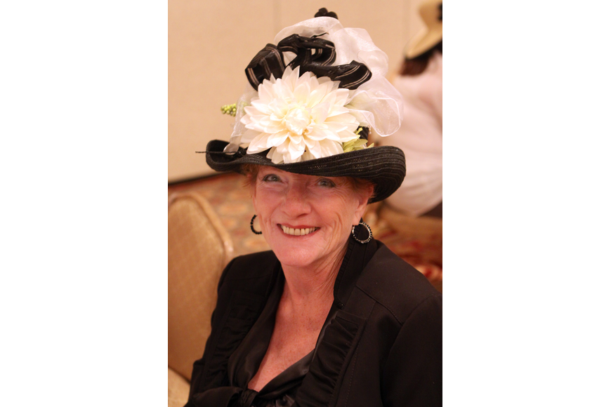 Judy Ramlow wore a fancy hat Friday, April 29 while celebrating the royal wedding at the Ritz Carlton.