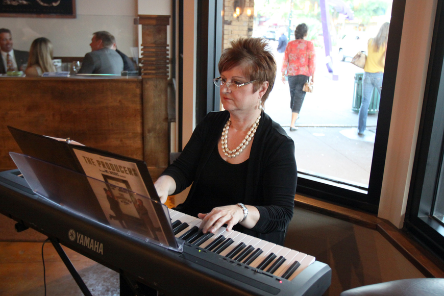 Joyce Valentine was the musical accompaniment for the evening Saturday, May 7 during the private gala for The Players Theatre at the new Patrick's 1481.