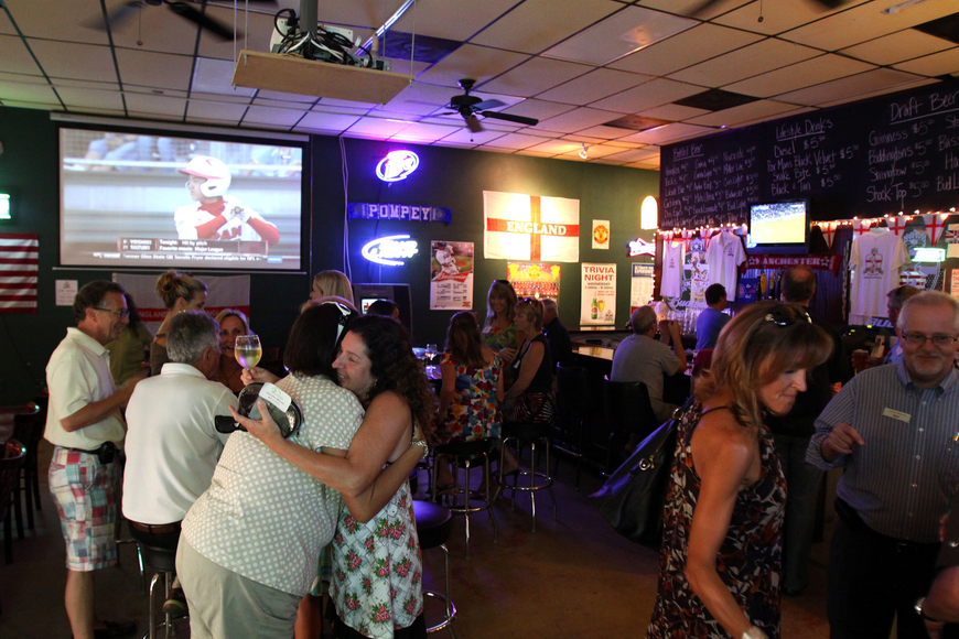 Members of the Siesta Key Chamber of Commerce got together for a business card exchange Thursday, Aug. 18 at King George Pub.