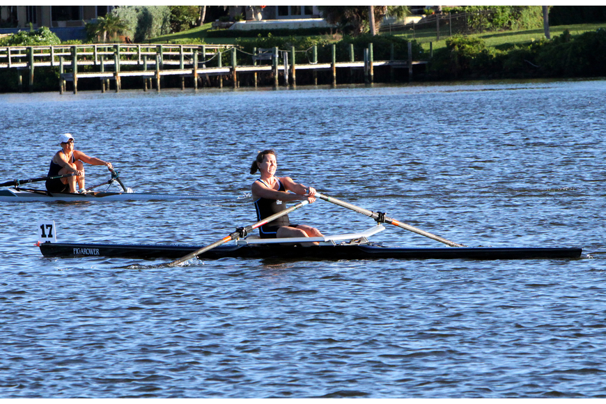 Wilhoit competed in the Womens Masters 1x and came in third.