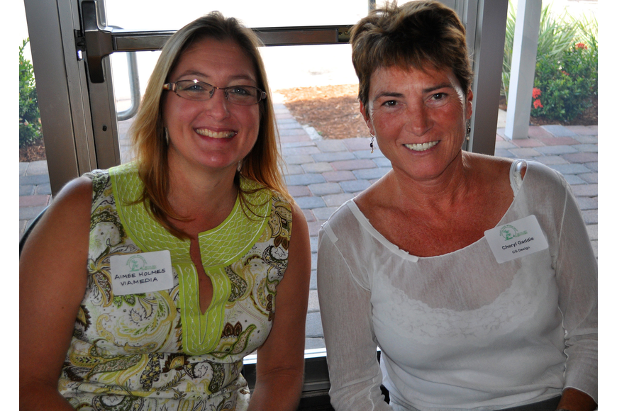 Aimee Holmes of Via Media and Cheryl Gaddie of CG Design