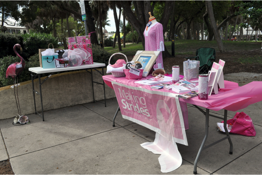 Many of the stores on St. Armands Circle donated a variety of items to Circle Me Pink.