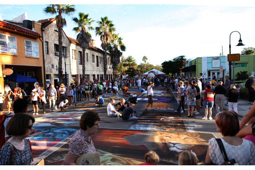 Thousands of people took their time to look at all the chalk pieces created for the 2012 Sarasota Chalk Festival Sunday, Nov. 4.