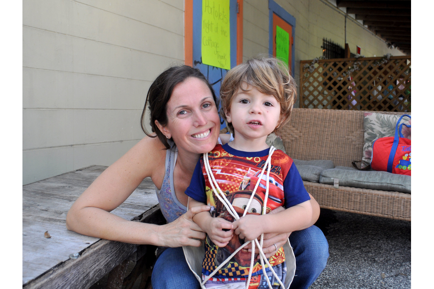 Susan Rigopulos and her son, Talon.