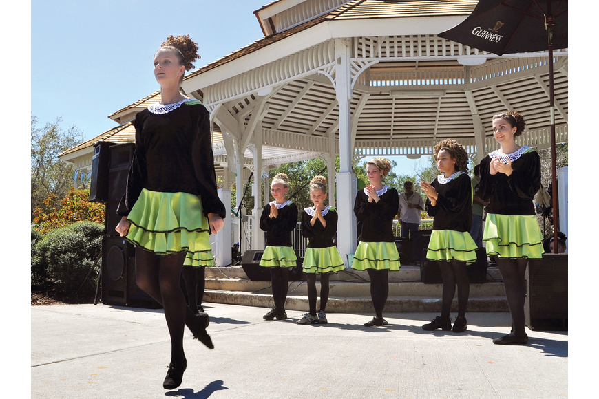 Hana Kenny performs with the Sarasota Irish Dance Academy March 17 at the seventh annual Irish Rover St. Patrick's Day Celebration at Phillippi Estate Park.