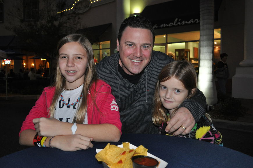 Lakewood Ranch resident Ken Broderick came out with his daughters, Tiara, left, and Trinity, right.