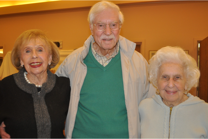 Marsha Ross with Sid and Evelyn Gersh