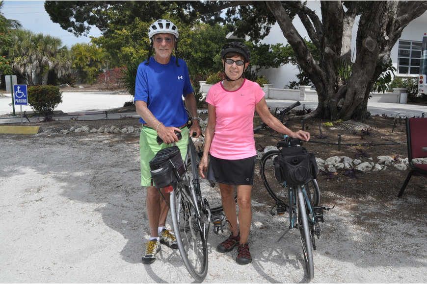 Bob and Susan Smith biked two-and-a-half miles from their Westchester condo to the health fair.
