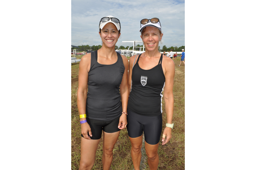 Joey Bautista and Annamari Mikkola raced with the Saugatuck Rowing Club.