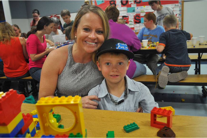 Niki Adkins and her first-grade son, Jacob