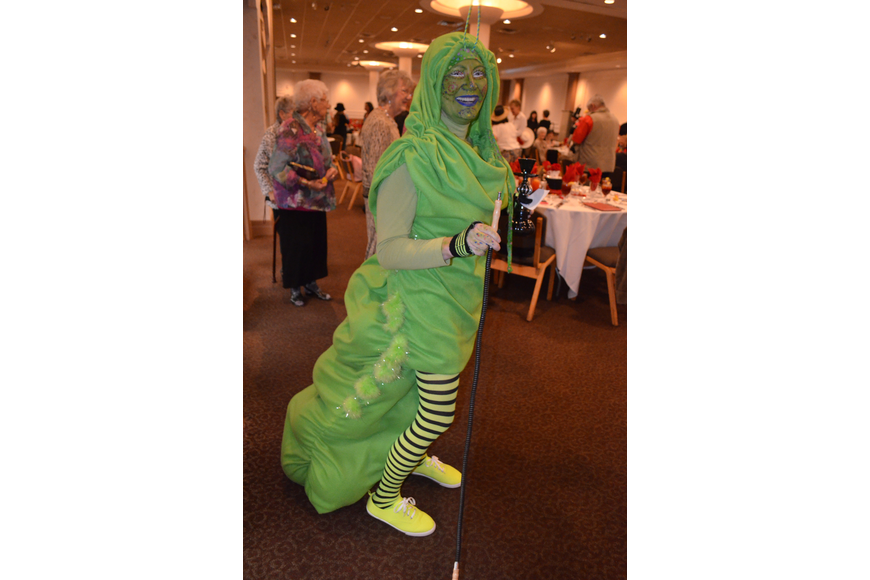 Paula Gross as the caterpillar from Alice and Wonderland.