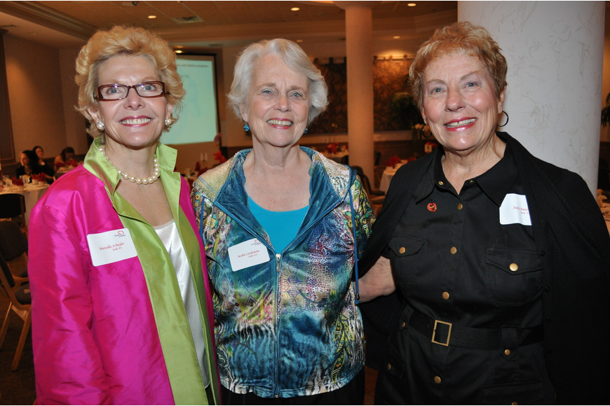 Chairwoman Marcella Schuyler, Mollie Cardamone and Judy Amuso