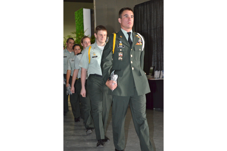 Sarasota Military Academy cadets handed out dog 