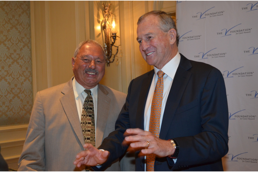 Nick Valvano and former University of Connecticut and Hall of Fame basketball coach Jim Calhoun