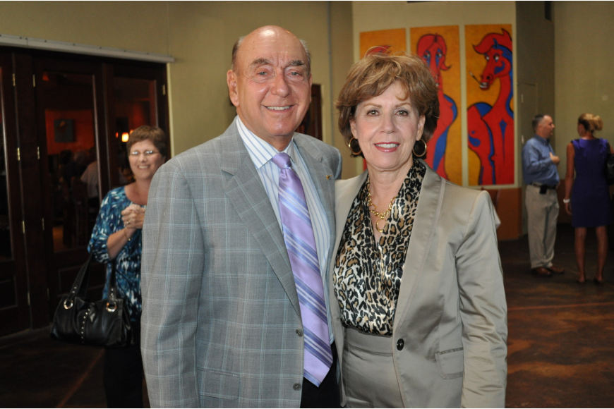 Honoree Dick Vitale and his wife, Lorraine