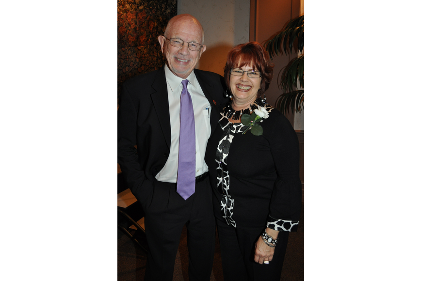 Honoree Paul Welch and Lynne Ross