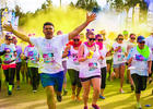 Participants get sprayed with colored chalk throughout the run. Courtesy image.