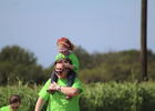 Lakewood Ranch's Emma and Richard Barry try and keep their glasses in tact during the 15th annual Buddy Walk.