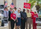 Former Sarasota mayors hold rally against partisanship