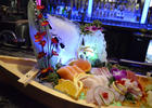 The restaurant specializes in endless sushi and hibachi.